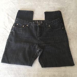 I.S.I.S Rinsed Black High Rise Jeans Sz 12P
